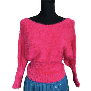 Active Fuzzy Super Stretchy Scoop Neck Sweater